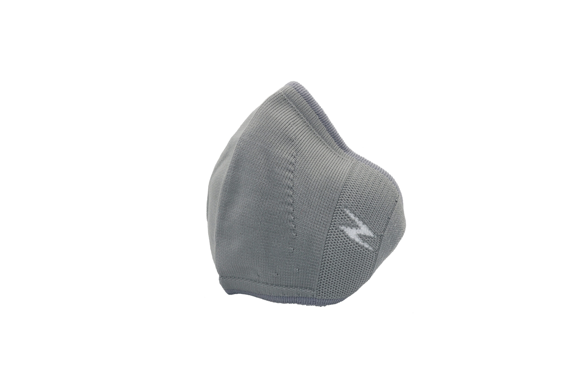 Grey reusable face covering