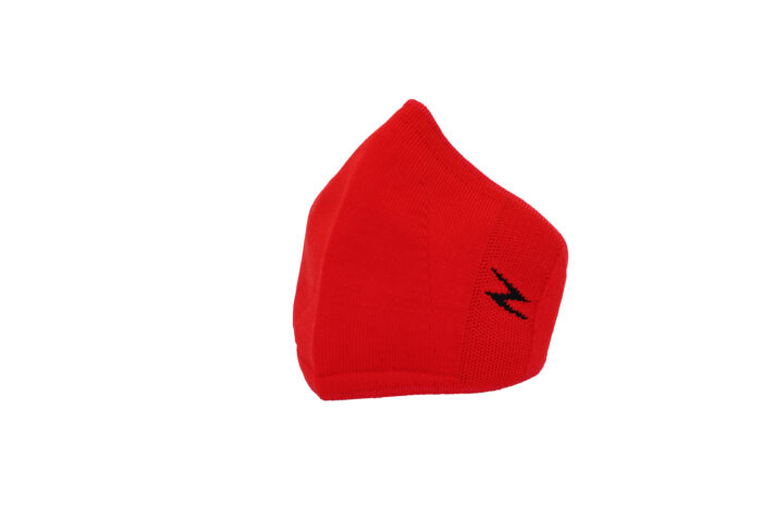 red reusable face covering